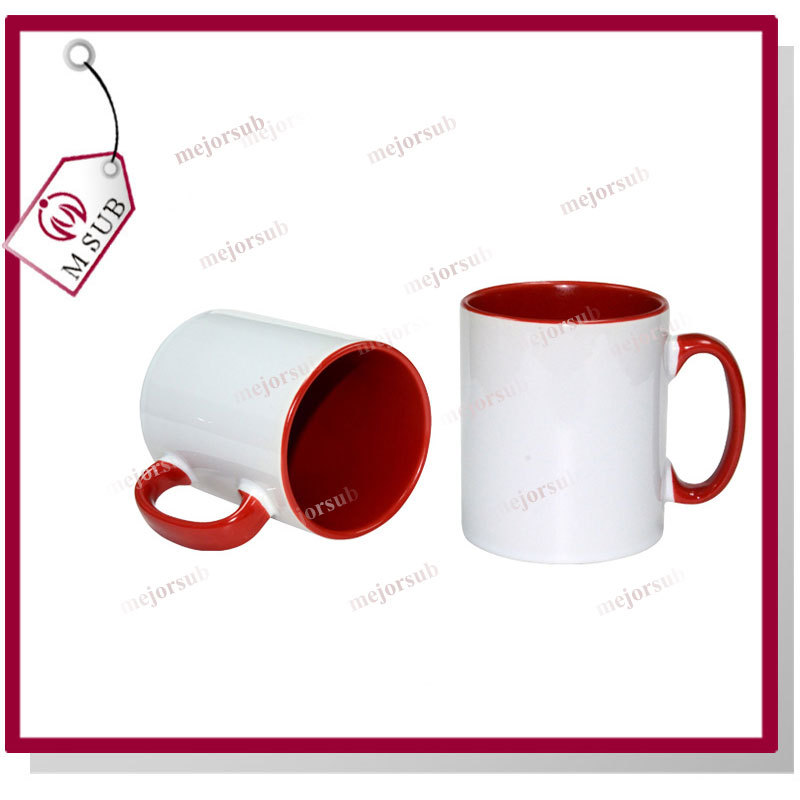 11oz red inter color mug blank sublimation products