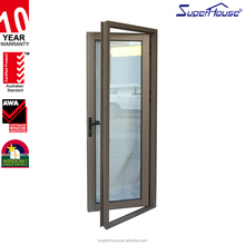 China product fire rated glass leaded glass french door for New Zealand