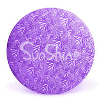 "Purple Foil Circles - 6""--Corrugated Cake Circles"