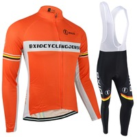 BXIO Pro Team Cycling Jerseys Winter Thermal Fleece Bicycle Clothing Ropa Ciclismo Maillot Men's Bike Winter Jerseys BX-0108O033