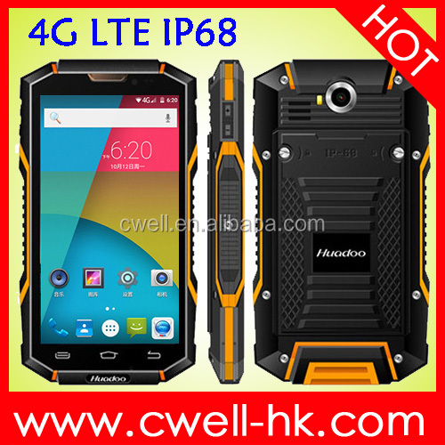 IP68 Waterproof, Dustproof and Shockproof HG06 Quad-Core 2GB RAM/16GB ROM 13MP Camera GPS 4G LTE Android Phone Mobile
