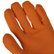 Popular orange color electrical workplace safety hand gloves for construction work