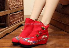 Chinese Style Flats National Peacock Embroidery Casual Shoes Soft Sole Old Peking Cloth Shoe Woman zapatos mujers
