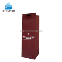 Machine Made High End Quality Wine Bottle Kraft Paper Bag