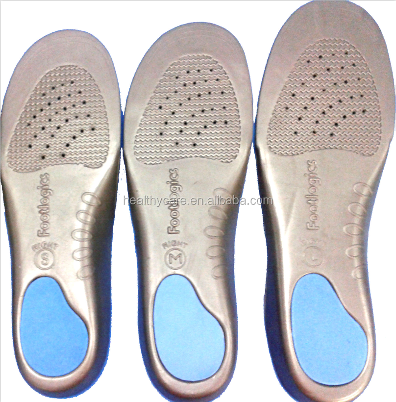 Foot orthotic eva molded arch support insole for the foot
