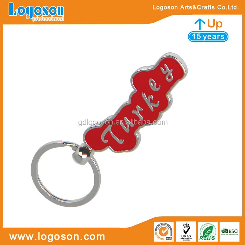 I love Turkey Rotating Keychain Map of Turkey Enamel Key Chain Souvenir Gift