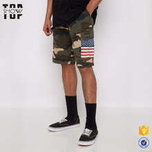 New product wholesale cotton camo print short shorts cargo pockets