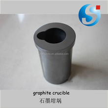 Graphite crucible for melting metal gold