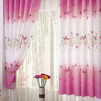 100% polyester floral chinese style curtains