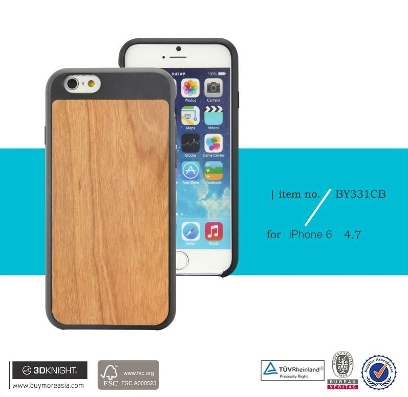 3D Knight 2016 Hot sale wooden case for Iphone 6s, Best quality for iPhone 6 wooden case bamboo cover