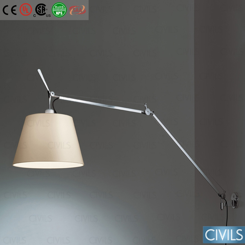 living room wall lamp, swing arm wall lamp, wall lamp hotel headboard