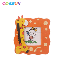 2018 kids funny mini DIY wooden photo frame with customized printing