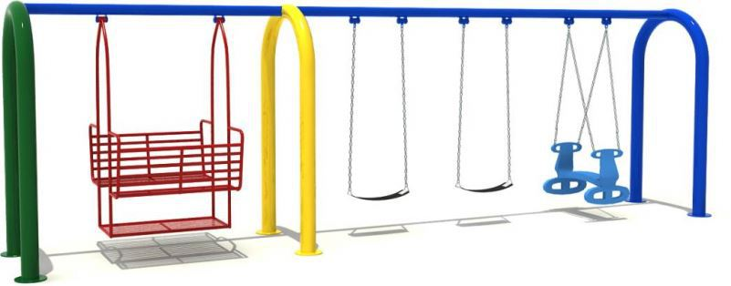 Factory Wholesale Face To Face Glider Swing Barrier