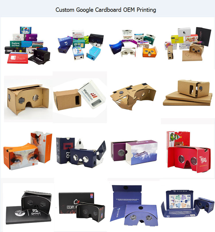 Promotional product with branded logo printing cardboard vr foldable vr glasses