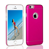 China Supplier Best selling metal cover aluminum tpu bumper case for iPhone 6/6 plus
