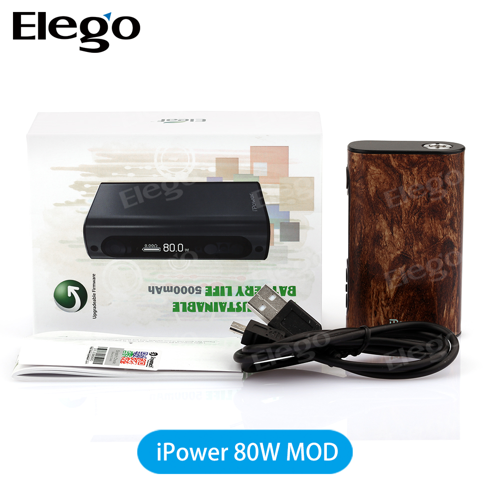 100% Original Eleaf iPower 80W TC Box Mod with 5000mAh Battery Long Life Support