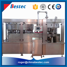 Automatic carbonated canning beer or cola filling sealing packing machine