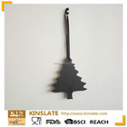 Slate Christmas tree gift&crafts natural black slate hanging gift for holiday gift