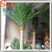 outdoor fake artificial plastic decorative coconut palm tree branches and leaves