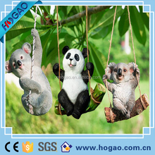 Resin Hanging Decorate Fairy Garden Panda and Koala Statue