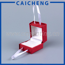 Jewelry package foam insert wholesale jewelry ring box with ribbon handle