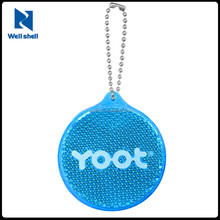 2015 news fashion EN 13356 Reflective key chain, reflective keychain