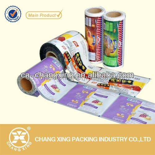 plastic customized printed laminated leisure food packaging film