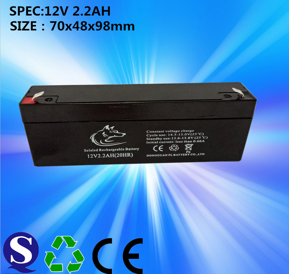 MF VRLA 12v 2.2ah SLA lead acid battery for solar street light New