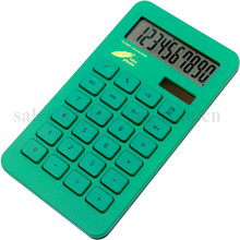 2017 hot sale Ultra-thin Eco-friendly Corn Plastic Dual Power 10 Digits Calculator Promotion Gift Calculator