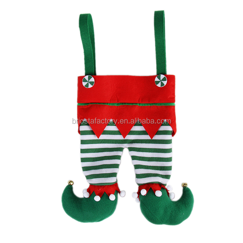 Wholesale Personalized Monogram Elf Pants Christmas Stockings
