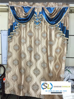 jacquard curtain with attached valance