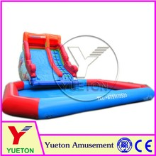 Zhengzhou Yueton Commercial Quality Giant Inflatable Pool Slide With Climbing Wall For Kids
