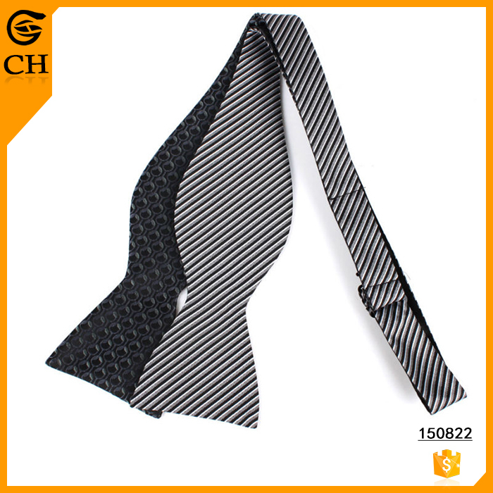 100% Polyester Cheap Price Reversible Self Tie Bow Tie