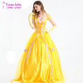 Plus Size Women's Halloween Cosplay Deluxe Beauty Princess Belle Ball Costume Dress