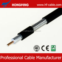 75 ohm cctv coaxial cable rg11 with messenger