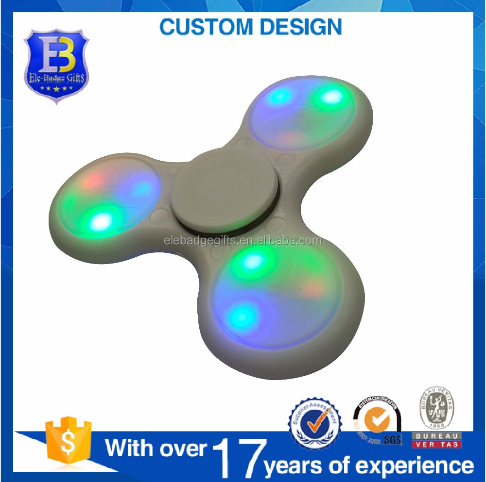Wholesale toys LED light fidget spinner with factory price high quality