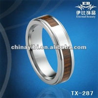 8mm silver and stone inlaid fashion tungsten carbide bands tungsten rings in China