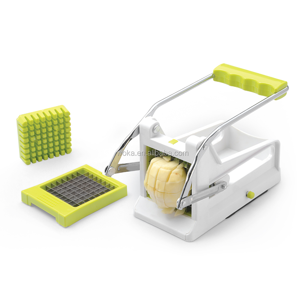 With Two SS Blades And Scution Jumbo Manual Plastic Potato Cutter