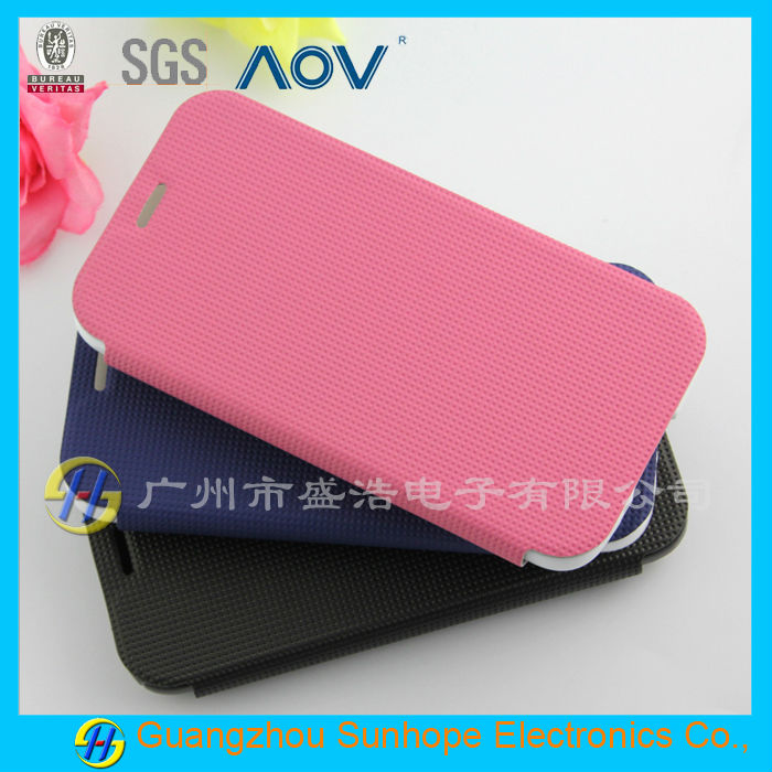 checked leathe case with stand for Samsung G800 S5 MINI flip cover