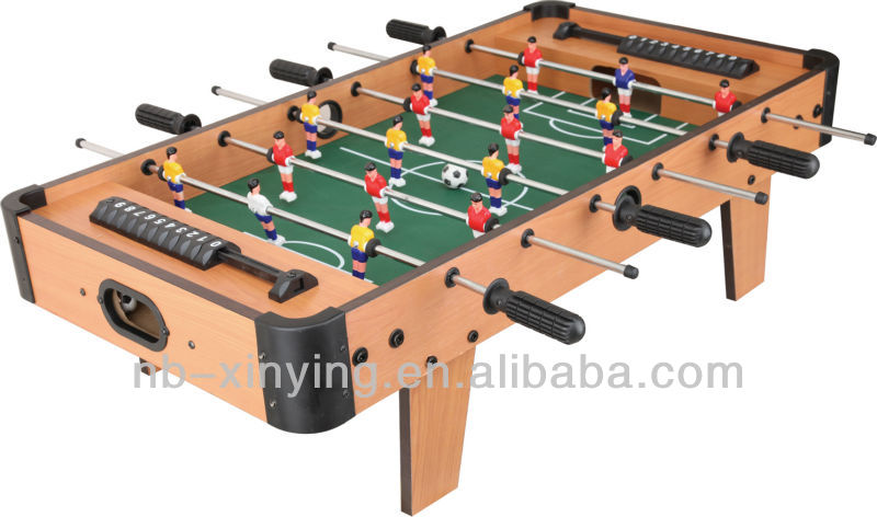 Mini wooden tabletop foosball game with 4 legs buy for 10 games in 1 table