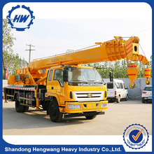 Small mobile 5 tons truck crane with hydraulic system