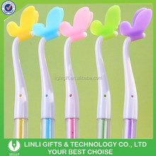 Soft Silicone Rubber Lovely Butterfly Elegant Rollerball Pen,GEL Pen