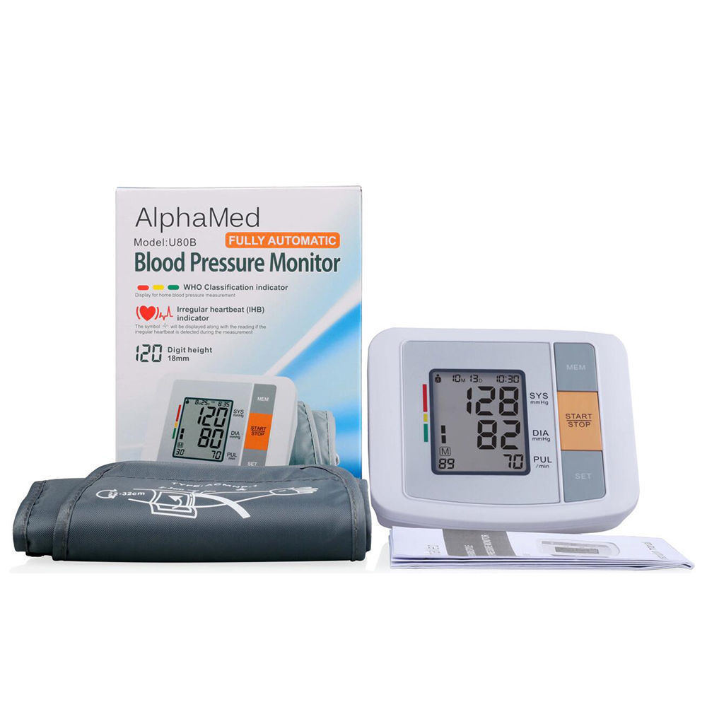 CE FDA Approval Large LCD screen Upper Arm Blood Pressure Monitor