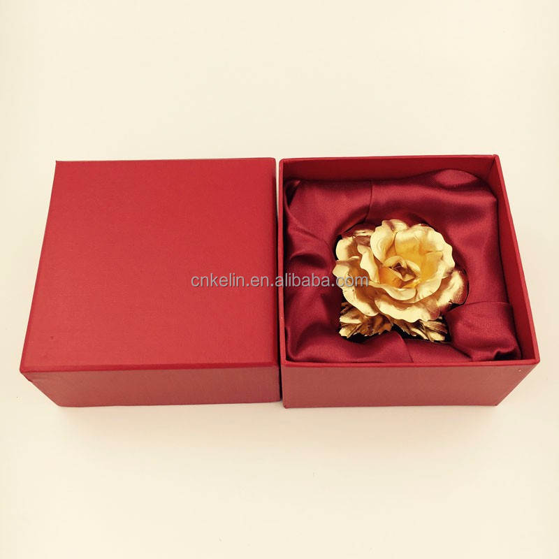 Factory directly offer 6.5cm 24K Gold Plating Rose The Creative Way to Say I Love You
