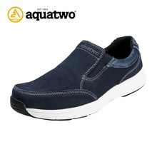 2017 New Arrival Aquatwo Brand Flat Fashion Men Casual Shoes With Leather Upper