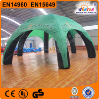 Commercial exhibition dome roof 6 props Oxford or PVC inflatable tents for events