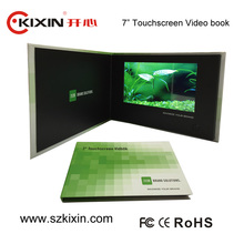 7inch touch screen video card with picture/ video brochure/audio playing function