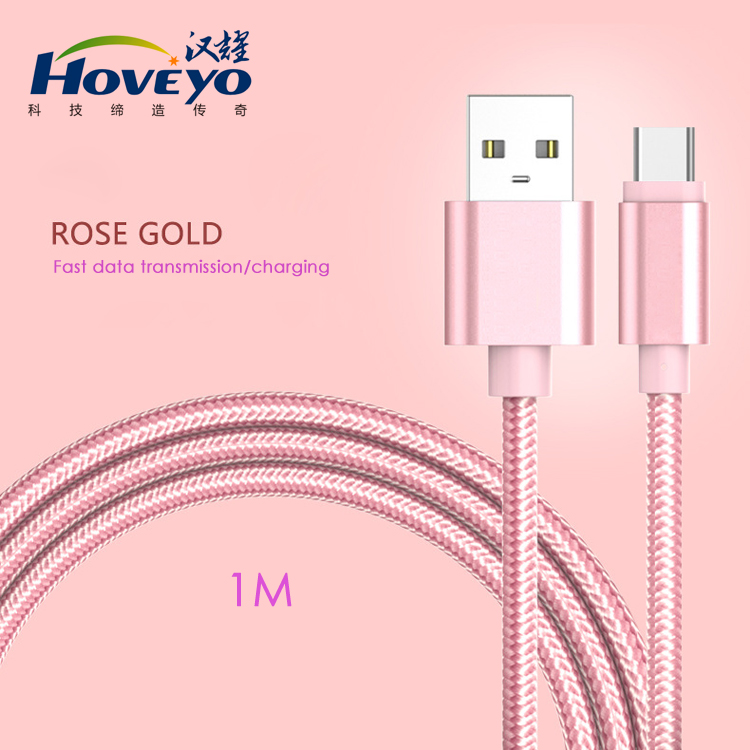 2017 Hot Sell High Warranty Nylon Braided USB 3.1usb type c <strong>cable</strong> Fast Charging for MacBook Nokia letv phone