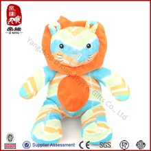colorful stripped stuffed cat for kids