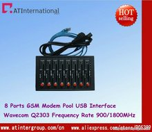 HOT!Q2303 RS232/USB GSM Modem 8 channel with external antennacard slot
